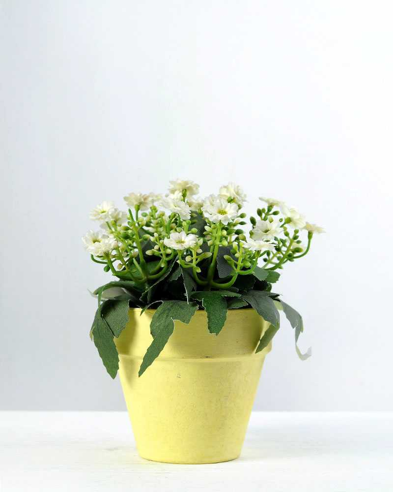 15cm Aglaia Odorata Silk Flower In Paper Pulp Pot Artificial