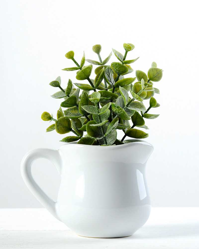 15cm Eucalyptus Artificial Plant In Ceramic Pot