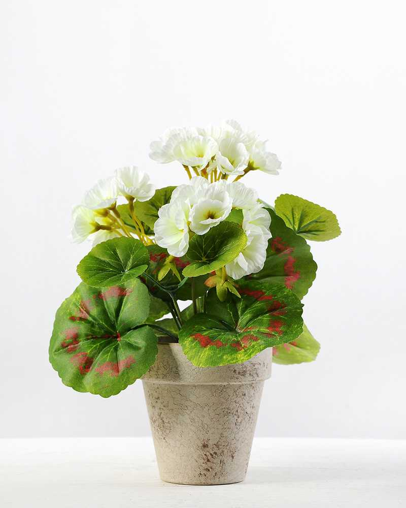21cm geranium silk flower in paper pulp pot artificial flowers 21cm geranium silk flower in paper pulp pot mightylinksfo