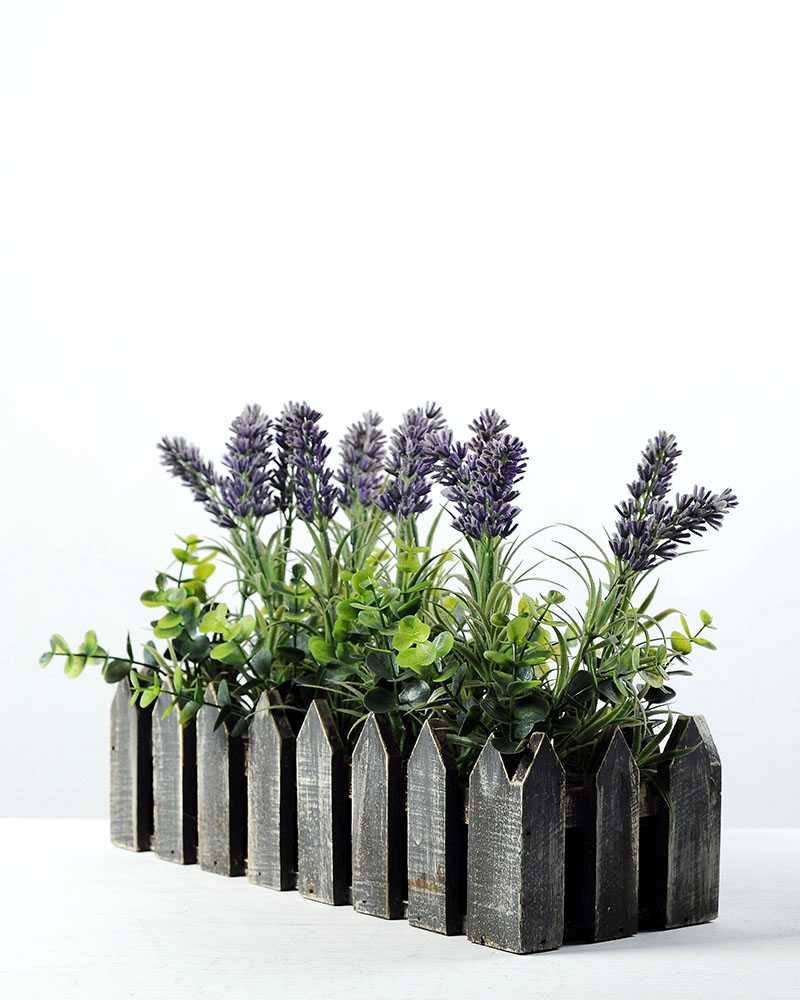 Creative displays lavender silk flower in wood planter artificial creative displays lavender silk flower in wood planter mightylinksfo