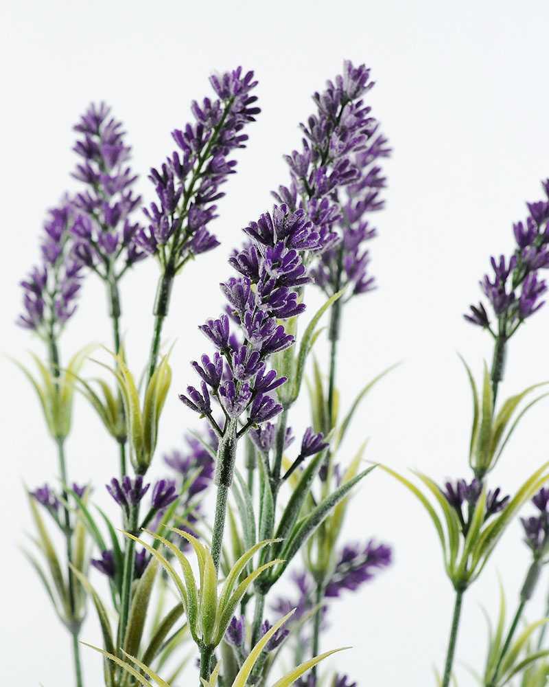 45cm Lavender Silk Flower in Basket  Artificial Flowers FactoryManufacturersDesignChina
