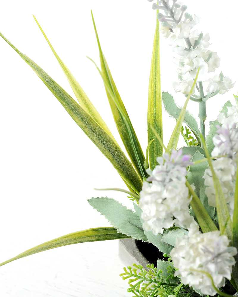 20 heads lavender silk flower in paper pulp pot artificial 20 heads lavender silk flower in paper pulp pot dhlflorist Gallery