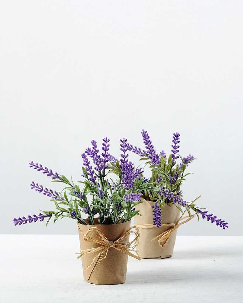 16cm lavender silk flower in paper wrap pot artificial flowers 16cm lavender silk flower in paper wrap pot mightylinksfo