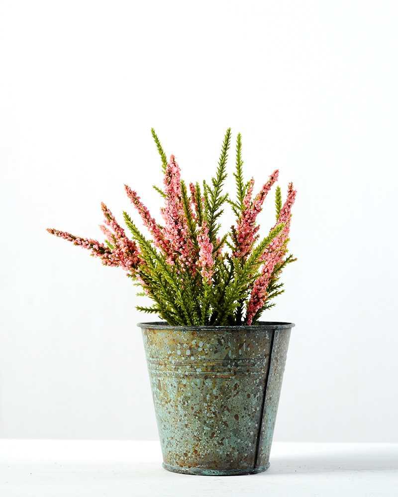 16cm lavender silk flower in metal pot artificial flowers 16cm lavender silk flower in metal pot dhlflorist Gallery