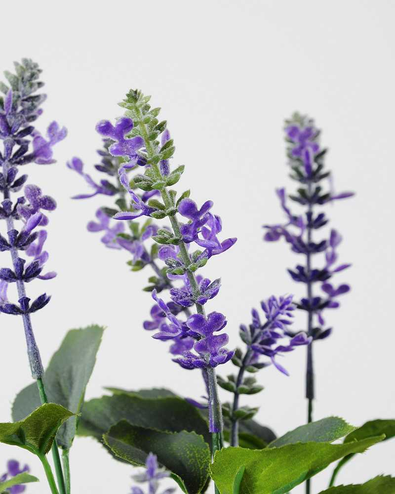 53cm Lavender Silk Flower in Paper Pulp pot  Artificial Flowers FactoryManufacturersDesign