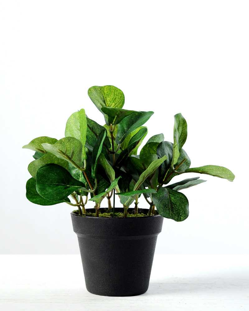 15cm leaves artificial plant in plastic pot | artificial flowers