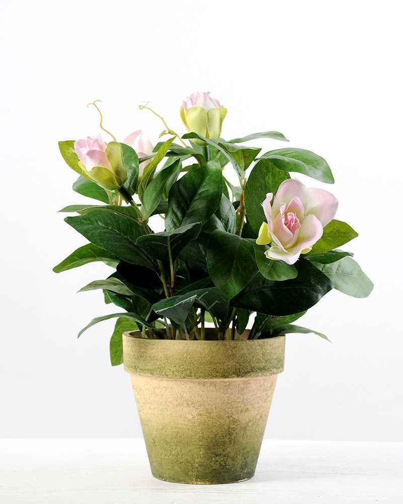 27cm magnolia silk flower in paper pulp pot artificial flowers 27cm magnolia silk flower in paper pulp pot mightylinksfo