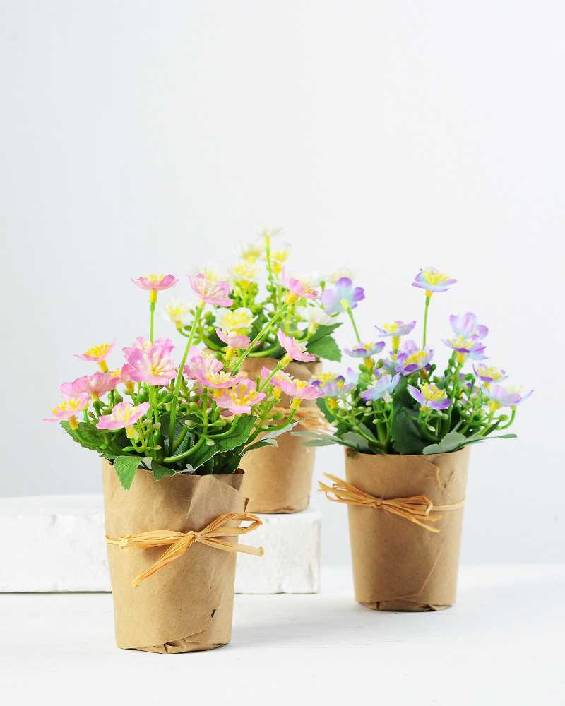 Flower Pot Paper Wrap Best Image Of Flower Mojoimage