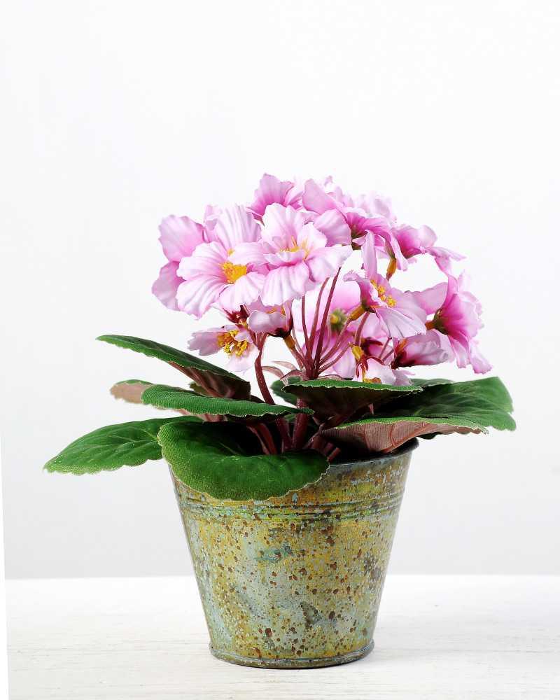 19cm violet silk flower in metal pot artificial flowers factory 19cm violet silk flower in metal pot mightylinksfo