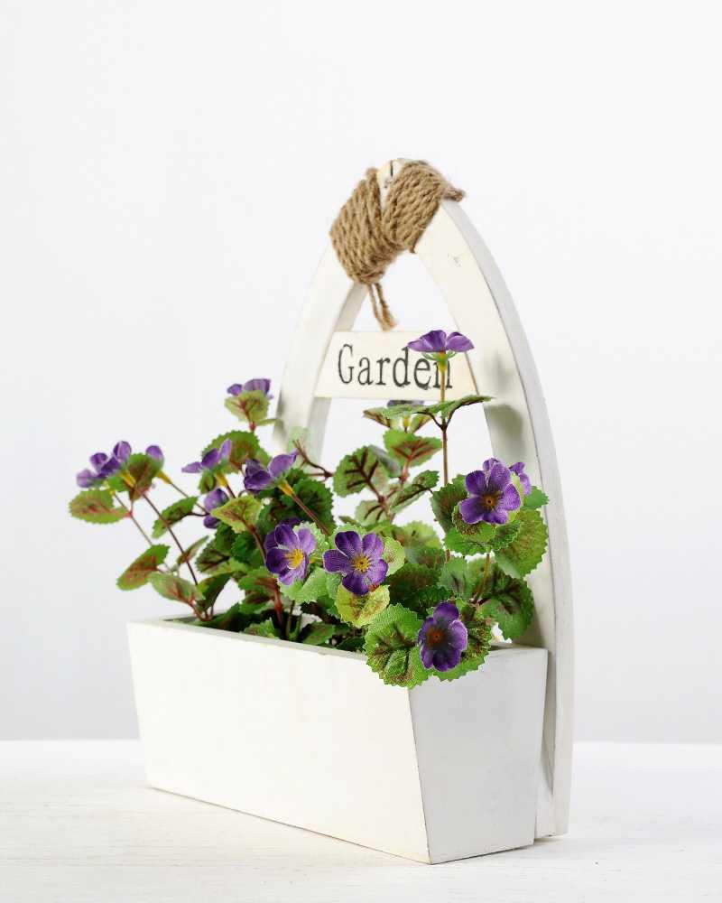 24cm wild with wood planter silk flower arrangement artificial 24cm wild with wood planter silk flower arrangement dhlflorist Gallery