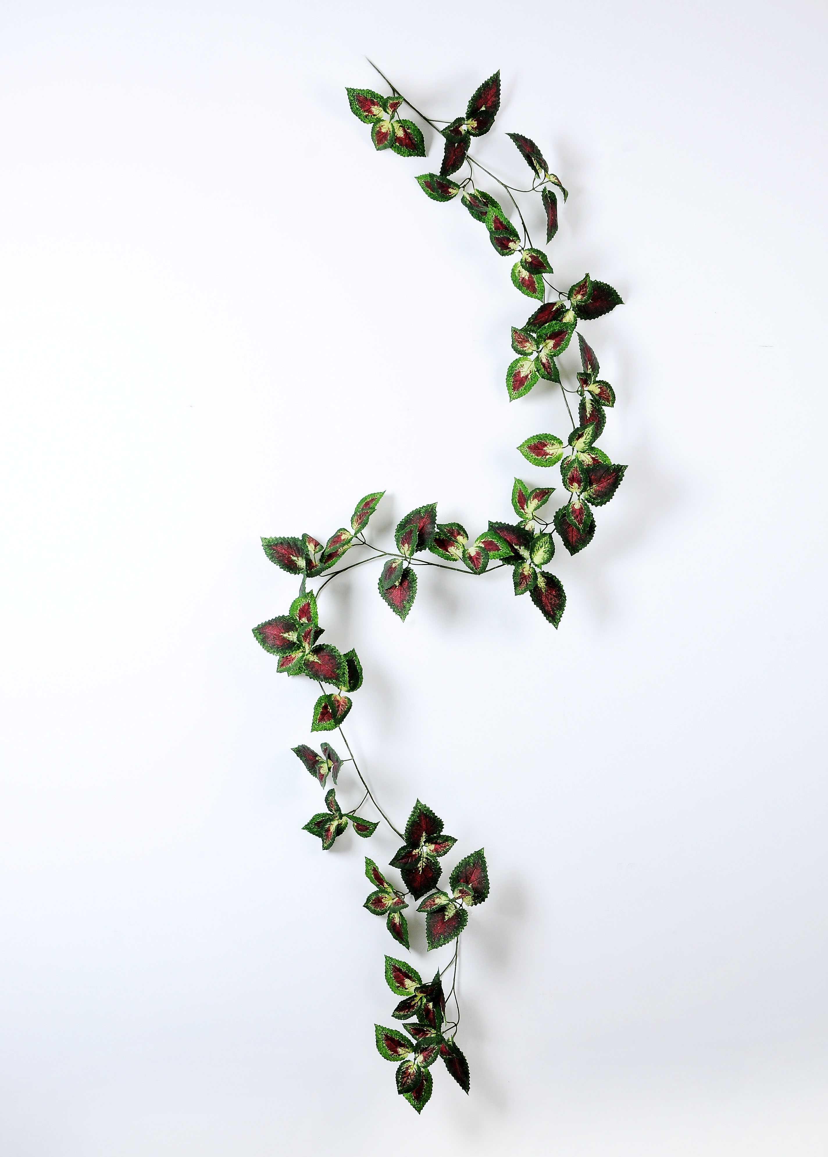 W18 H200cm Lvs Vine Garland Gs 3710007 China Silk Flowers