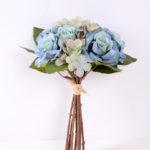 25cm Rose&Hydrangea bunch*8 GS-1450121-B1