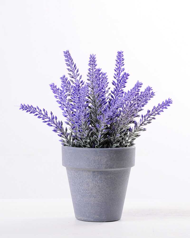 Lavender In Paper Wrap Pot Gs 0339795 Artificial Flowers