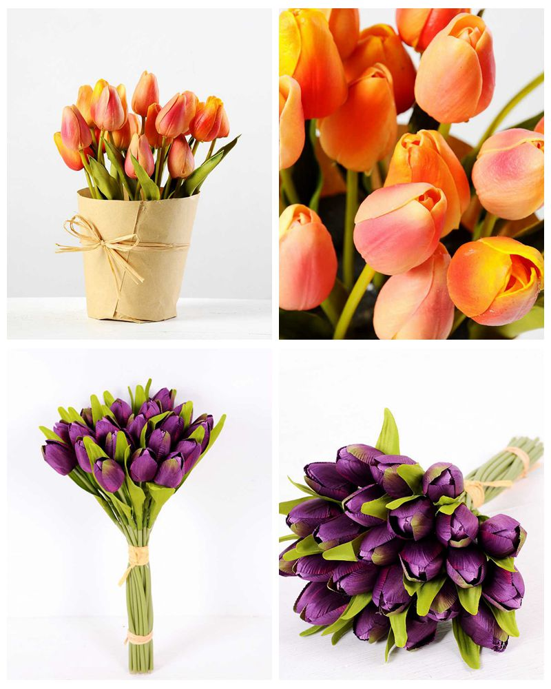 Artificial Silk FLOWERS Tulip already shipped  Artificial Flowers FactoryManufacturersDesign