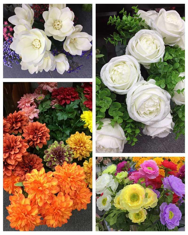 High Quality Silk Artificial Chrysanthemum Flowers Artificial