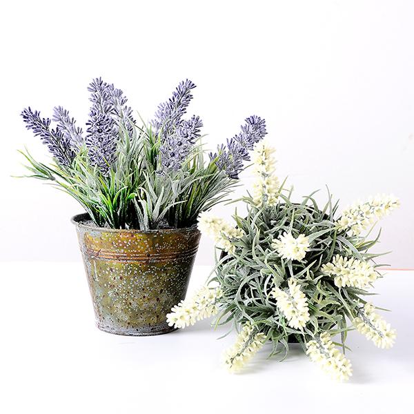 yeahflower Pastoral Style Artificial Flowers Plastic Lavender In Metal Bonsai 2 Colors 2 - Pastoral Style Artificial Flowers Plastic Lavender In Metal Bonsai 2 Colors -In Stock