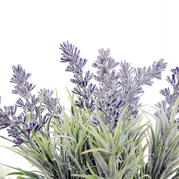 yeahflower Pastoral Style Artificial Flowers Plastic Lavender In Metal Bonsai blue - Pastoral Style Artificial Flowers Plastic Lavender In Metal Bonsai 2 Colors -In Stock