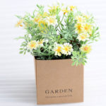 Artificial Flower 12*12*14cm Daisies in paper pot GS-03318091-Y1