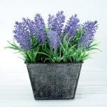 Artificial Flower H:18CM Lavender in Metal pot GS-6660560
