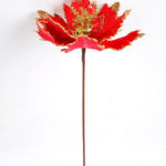 Artificial Flower 19*43CM Single Christmas flower(Bling) GS-33518019-R1