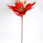 Artificial Flower 22*44CM Single Christmas flower(Bling) GS-33518020-R1