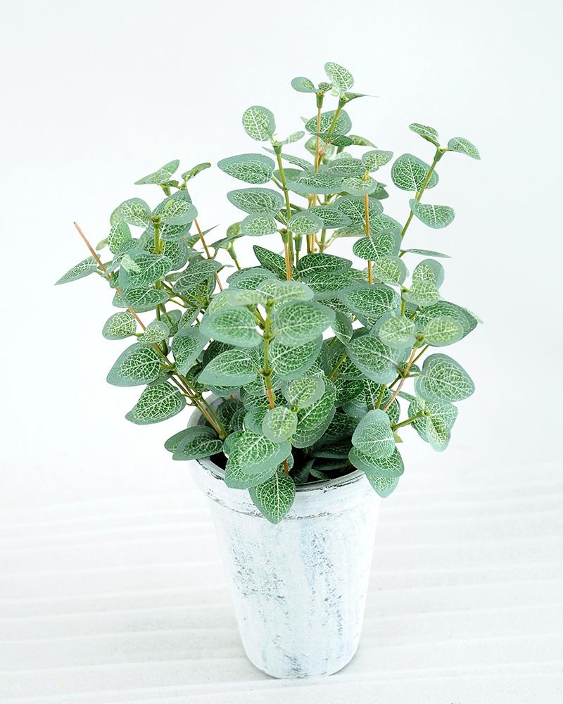 Artificial Plant H:28cm Eucalyptus in paper pot GS-6660637