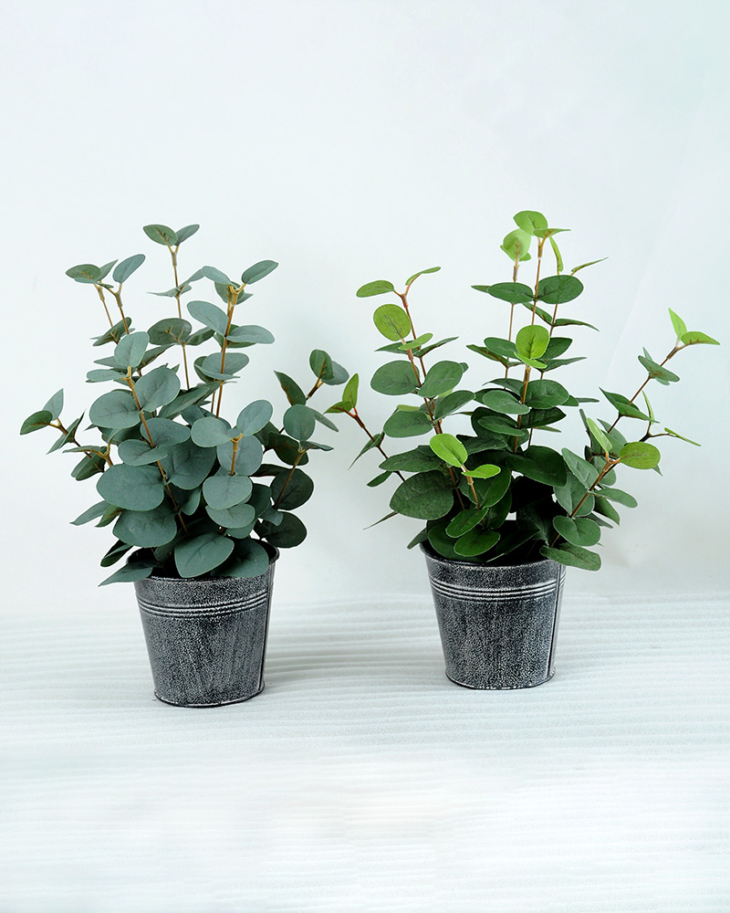 Artificial Plant H:34CM Eucalytus in metal pot GS-6660588