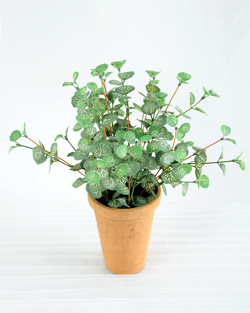 Artificial Plant H:28cm Mini leaf in paper pot GS-6660632