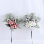 Artificial Flower 20*36CM SINGLE PINE PICKY WITH LILY  WITH FLOCKY GS-53319023