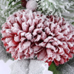 Artificial Flower 18*36CM SINGLE PINE PICKY WITH MUN  WITH FLOCKY GS-53319018-R1