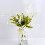 Artificial Flower 23*22*30CM Bellflower Spray*3 in glass pot with fake water GS-52719013