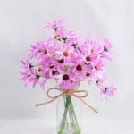 Artificial Flower 23*19*25CM Chrysanthemum in glass pot with fake water GS-52719023+F-Z1