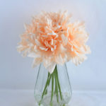 Artificial Flower 55*37*32CM Dahlia in glass pot with fake water GS-52719011