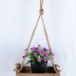 Artificial Flower H:16cm Milan in plastic pot wiht 22*12*44cm wooden pallet GS-03319196