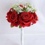 Artificial Flower 20*30CM ROSE BABYSBREATH BOUQUET*12 GS-53519004-R2