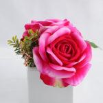 Artificial Flower 14*19*15cm Rose in ceramic pot GS-06919030+F-R2