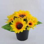Artificial Flower 23*18*16.5cm sunflower in Plastic pot GS-03319097
