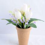 Artificial Flower 25*21*25cm tulip in Paper pot GS-03319103-P1