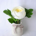 Artificial Flower 18*12*17CM Camellia Rose In Ceramic Pot GS-06919040-W1