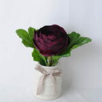 Artificial Flower 18*12*17CM Camellia Rose In Ceramic Pot GS-06919040-Z1