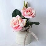 Artificial Flower 16*13*19CM Rose In Ceramic Pot GS-06919041-P1