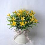 Artificial Flower 16*18*16CM Wild Flowers In Ceramic Pot GS-06919039-Y1