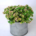 Artificial Flower 11*11*12cm mini flower in metal pot GS-03319261
