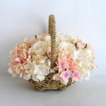 Artificial Flower 27*20*22cm rose hydrangea in basket GS-06919026-C1