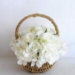 Artificial Flower 27*20*22cm rose hydrangea in basket GS-06919026-W1