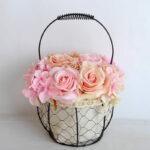 Artificial Flower 20*20*30cm rose hydrangea in basket GS-06919029-P3