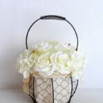 Artificial Flower 20*20*30cm rose hydrangea in basket GS-06919029-W3