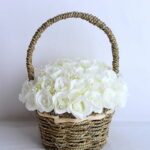 Artificial Flower 22*22*26cm rose in basket GS-06919027-W1