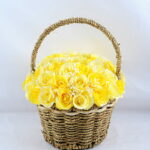 Artificial Flower 22*22*26cm rose in basket GS-06919027-Y1