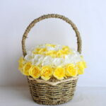 Artificial Flower 22*22*26cm rose in basket GS-06919027-Y2